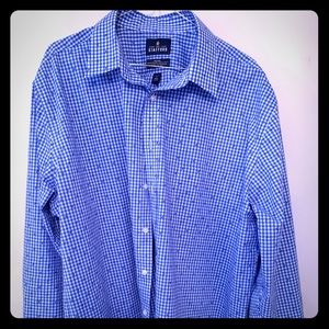 Blue, Button-Down Dress Shirt